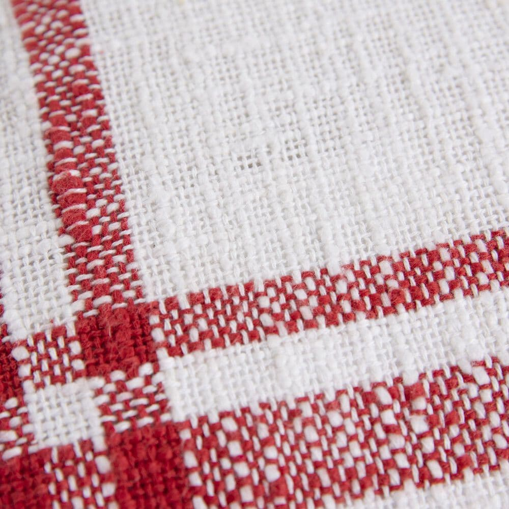 """Rizzy Home 18"""" Pillow Cover in White/Red, , large"""