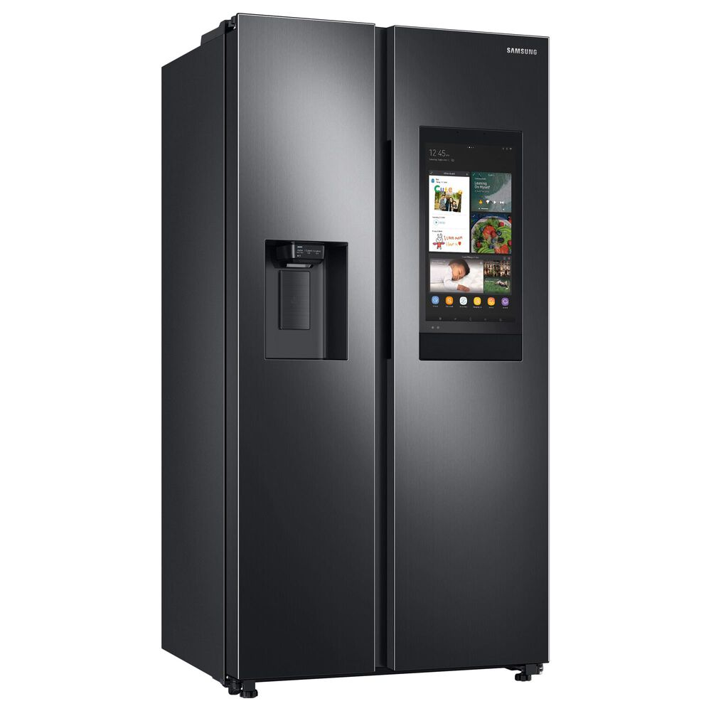 Samsung 4-Piece Kitchen Package with 22 Cu. Ft. Side-by-Side Refrigerator and Bar Handle Dishwasher in Black Stainless Steel, , large