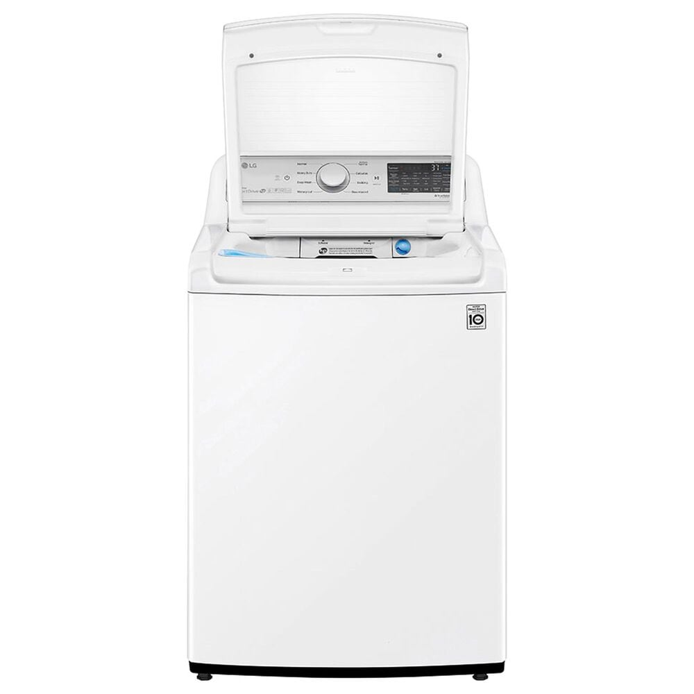 LG 4.8 Cu. Ft. Top Load Washer and 7.3 Cu. Ft. Top Load Electric Dryer Laundry Pair in White, , large