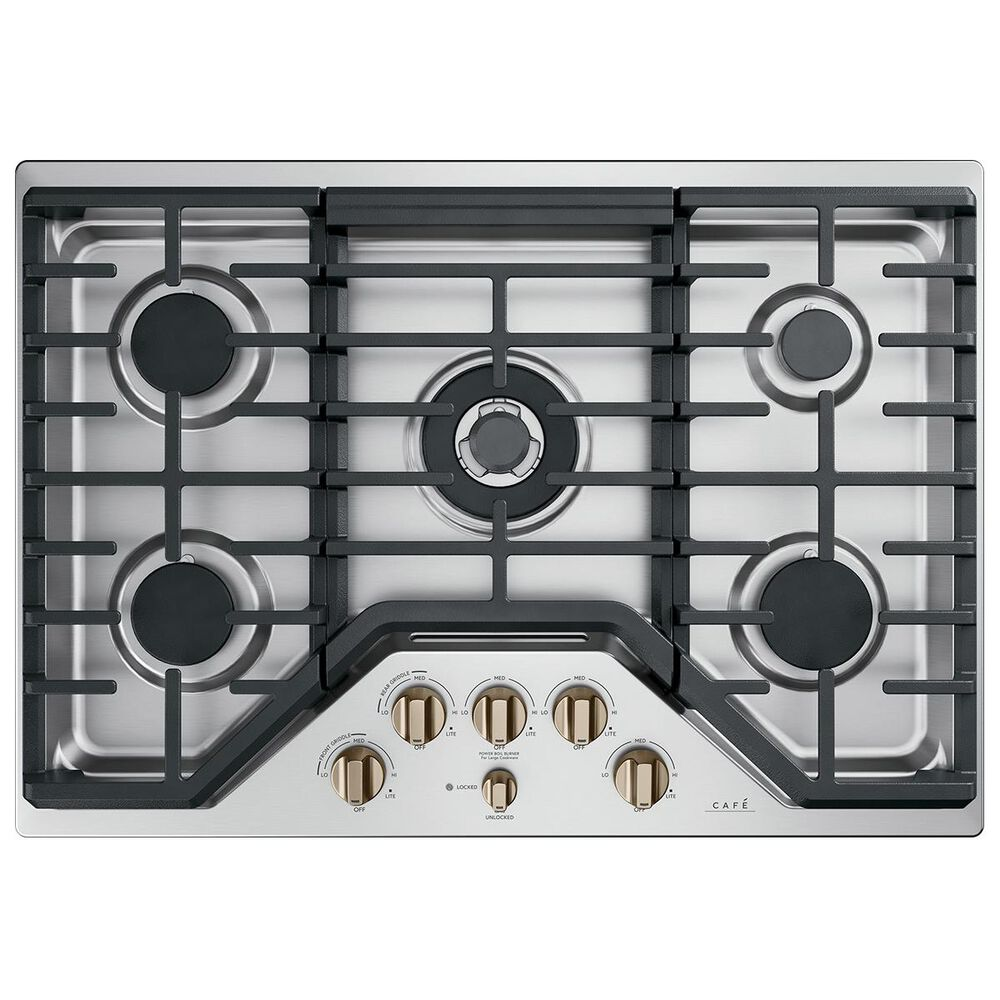 Cafe Gas Cooktop Knob in Brushed Bronze, , large