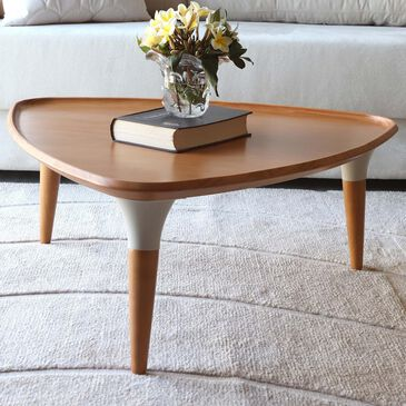 Dayton HomeDock Coffee Table in Cinnamon/Off White, , large