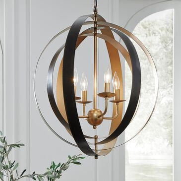 Signature Design by Ashley Makani Metal Pendant Light in Black and Gold, , large