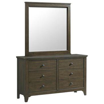 Hawthorne Furniture Tahoe 6 Drawer Dresser and Mirror in River Rock, , large