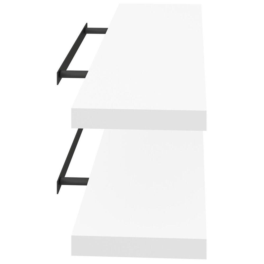 Bestar Floating Shelf in White - Set of 2, , large