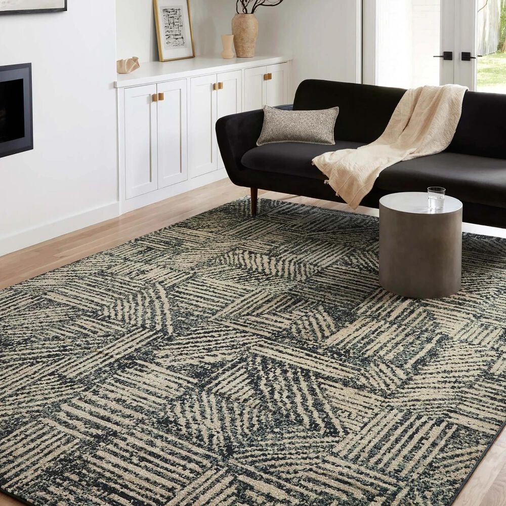 """Loloi II Bowery 9'6"""" x 12'6"""" Midnight and Taupe Area Rug, , large"""