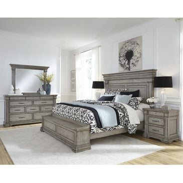 Chapel Hill Madison Ridge 4 Piece Queen Storage Bedroom Set in Bluff Gray, , large