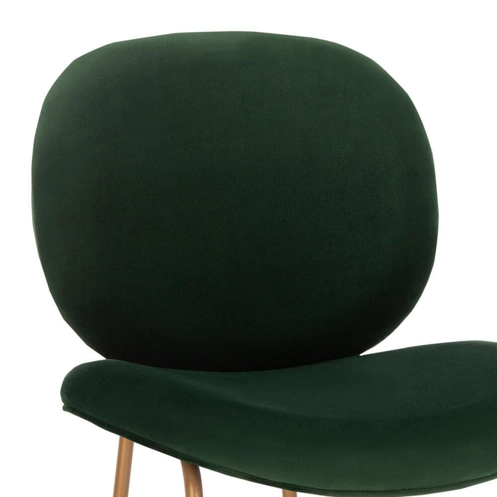 Safavieh Jordana Side Chair in Malachite Green Velvet and Gold (Set of 2), , large