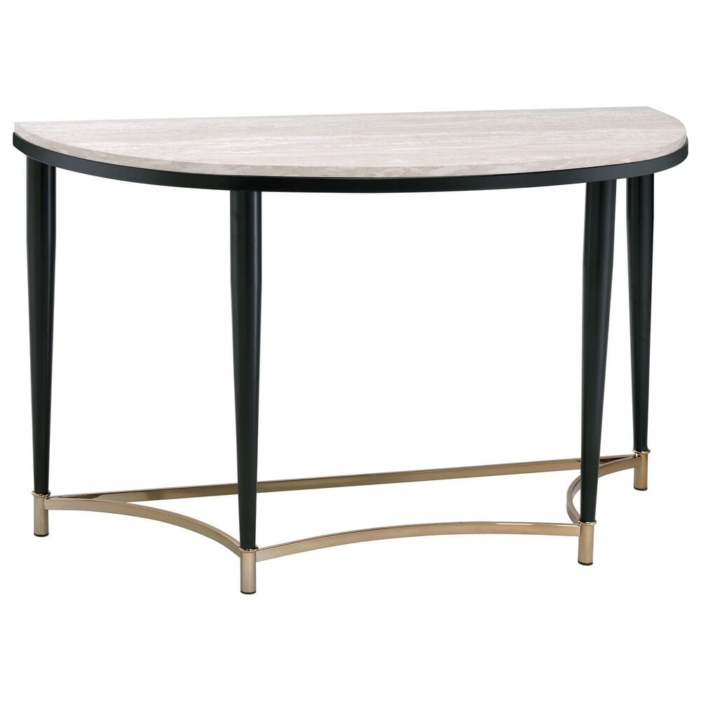 Gunnison Co. Ayser Sofa Table in White Washed/Black, , large