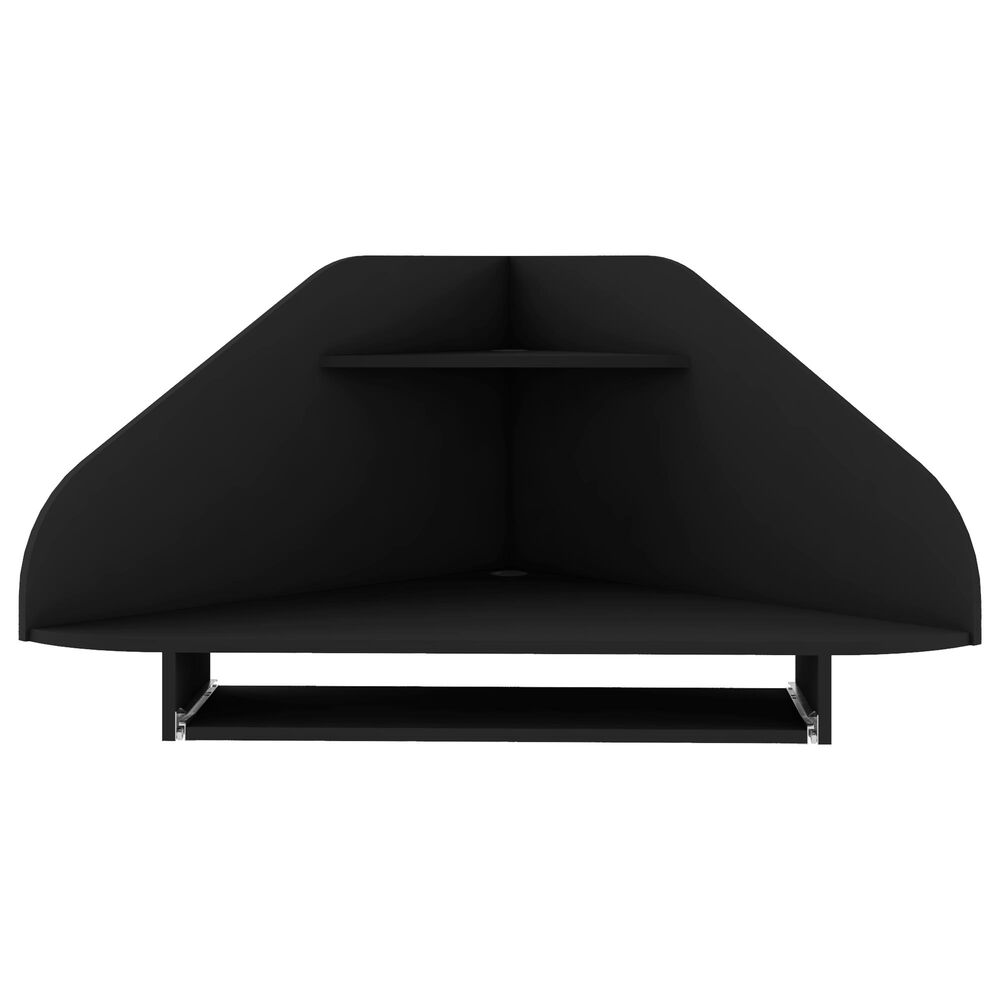 Dayton Bradley 2-Piece Cubicle Section Desk in Black, , large