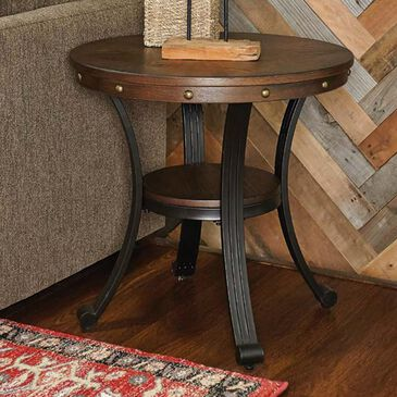 Parkerville Furniture Line Franklin Side Table in Rustic Umber and Pewter, , large