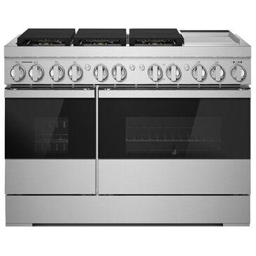 "Jenn-Air Noir 48"" Dual-Fuel Professional Range in Stainless Steel, , large"