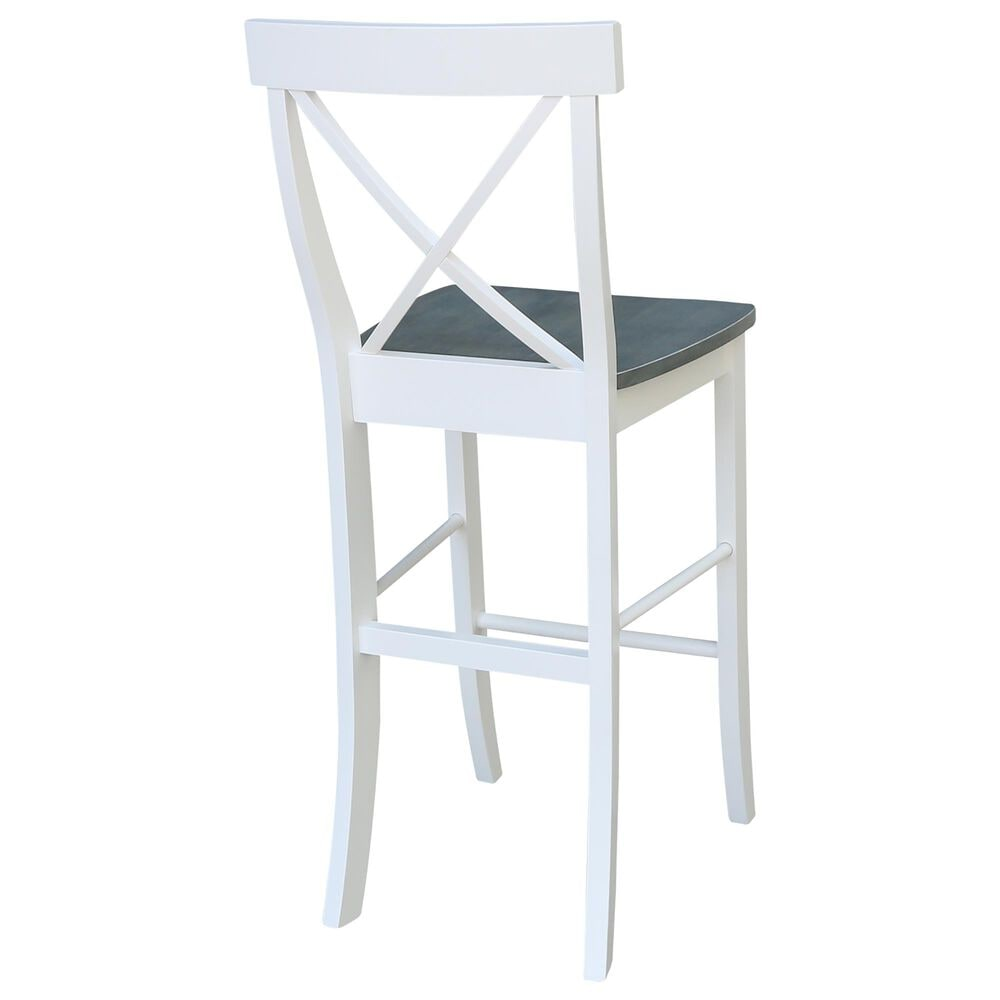 """International Concepts 30"""" Barstool in White/Heather Gray, , large"""