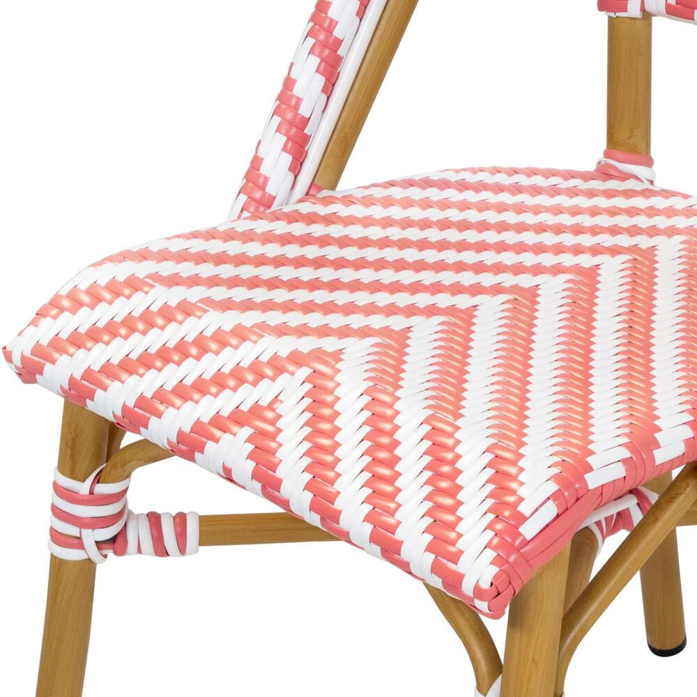 Furniture of America Lam Patio Dining Chair in Pink/White, , large
