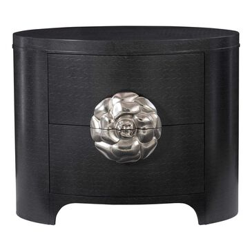 Bernhardt Silhouette 2 Drawer Nightstand in Eggshell and Onyx, , large