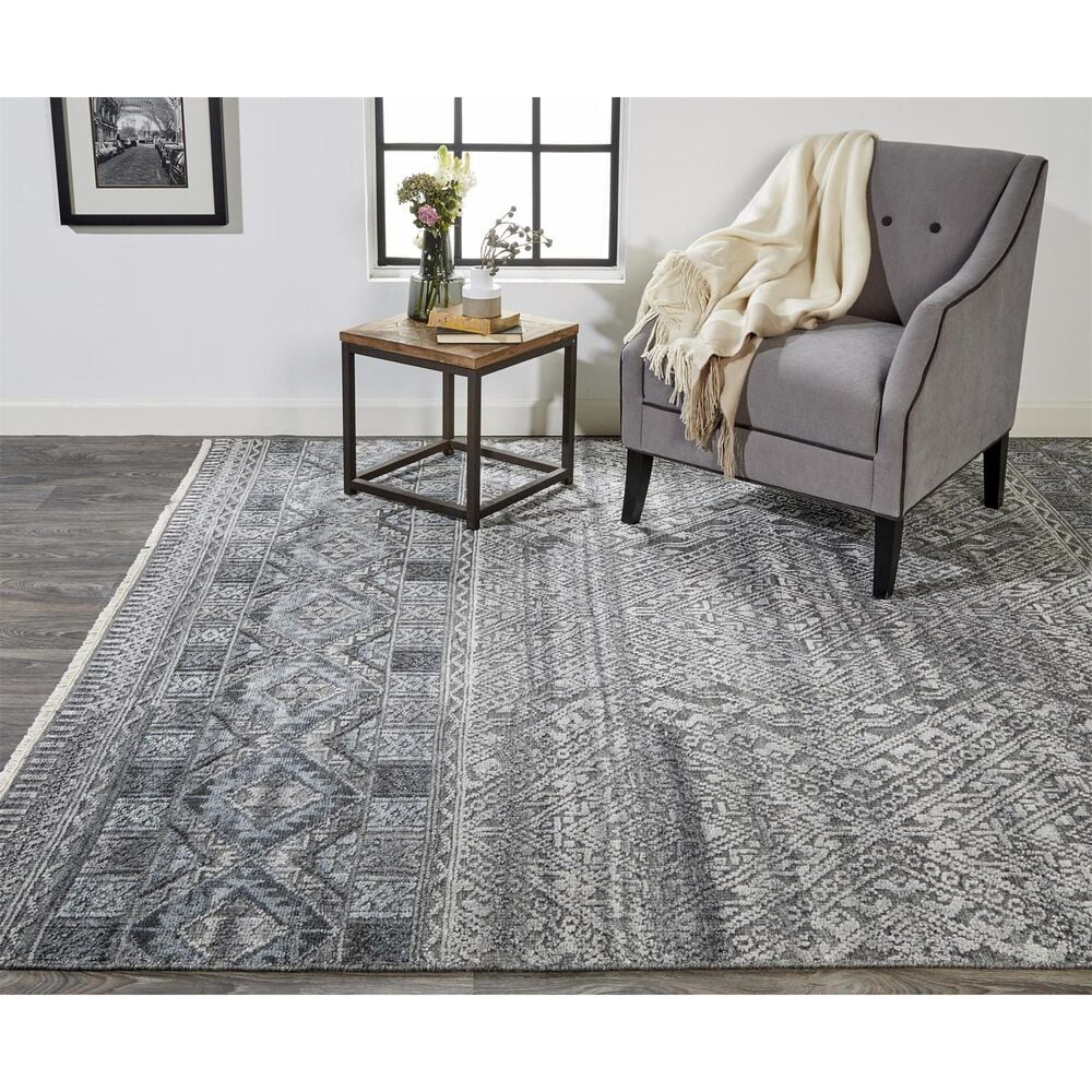 """Feizy Rugs Payton 6495F 5'6"""" x 8'6"""" Blue and Gray Area Rug, , large"""
