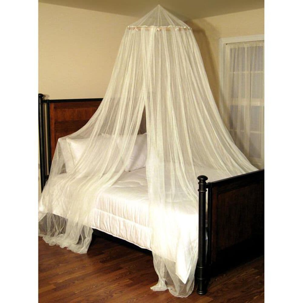 Epoch Hometex Oasis Round Bed Canopy in Ecru, , large
