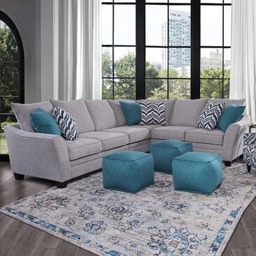 Moore Furniture Mason 4-Piece Sectional in Storm, , large