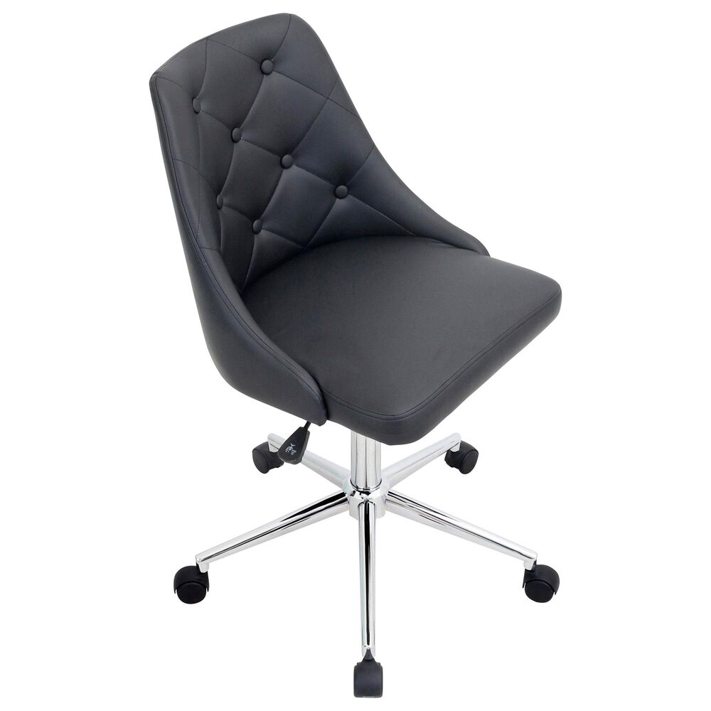 Lumisource Marche Adjustable Swivel Office Chair in Black/Chrome, , large