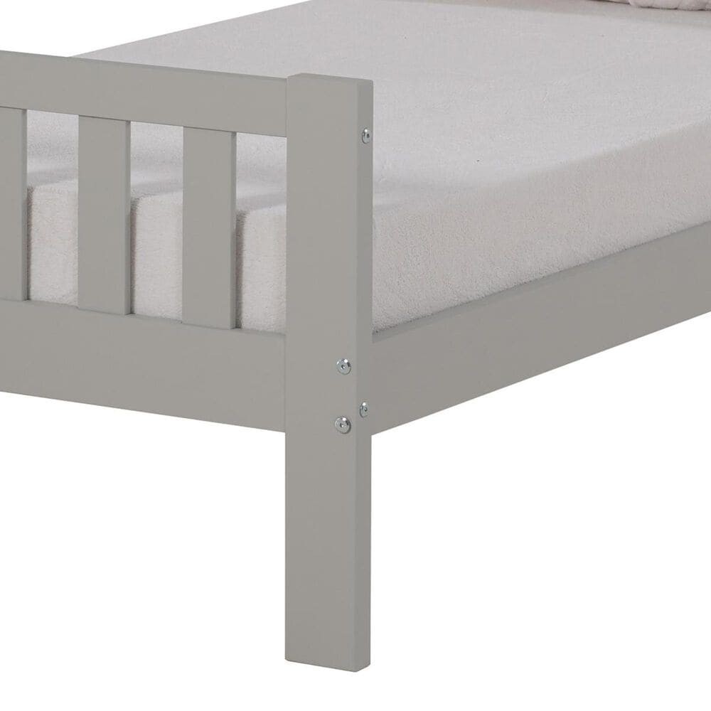 Bolton Furniture Aurora Twin Bed in Dove Gray, , large