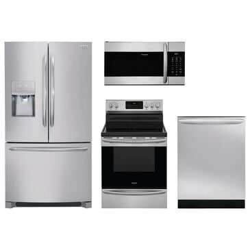 Frigidaire Gallery 4-Piece Kitchen Bundle with French Door Refrigerator and Electric Range in Stainless Steel, , large