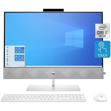 HP Pavilion All-in-One Desktop Computer, 27-inch Full HD Touchscreen, Intel Core i7-10700T Processor, Intel UHD Graphics 630, 16 GB Ram, 1 TB SSD Storage, , large