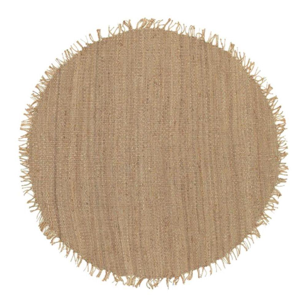 "Surya Jute Natural JUTE NATURAL 8"" Round Wheat Area Rug, , large"