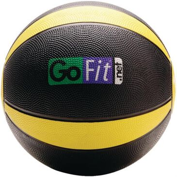 GoFit 10 lbs Medicine Ball in Black and Yellow, , large