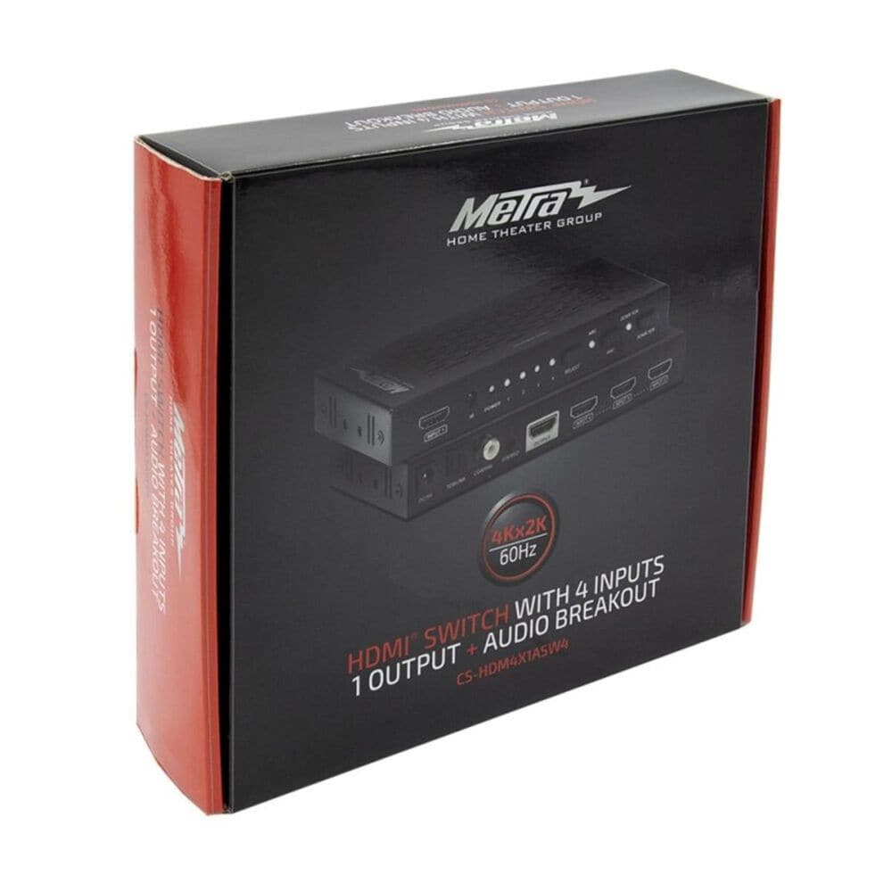Metra HDMI Switch with 4 Inputs and 1 Output, , large