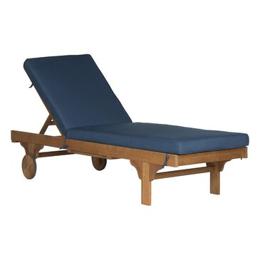 Safavieh Newport Chaise Lounge Chair with Side Table in Navy, , large
