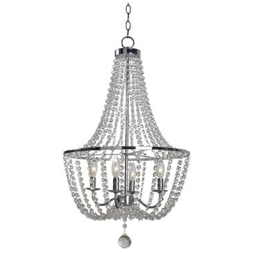 Kenroy Celeste 4-Light Chandelier in Chrome, , large