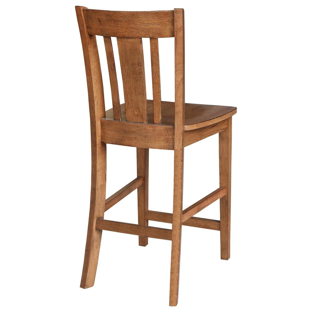 """International Concepts San Remo 24"""" Counter Stool in Distressed Oak, , large"""