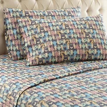 Shavel Home Products Twin Kool Kats Sheet Set, , large