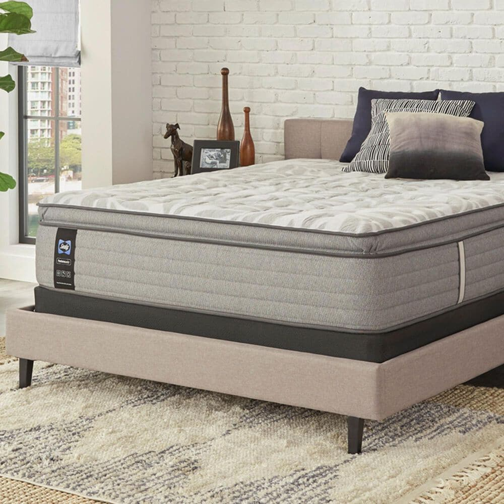Sealy Spring Posturepedic Dantley Firm Euro Pillow Top Twin XL Mattress with Low Profile Box Spring, , large
