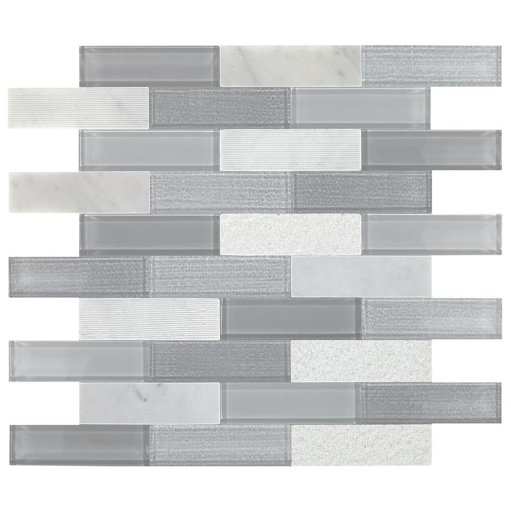 "Dal-Tile SimplyStick Stormy Mist12""x12"" Brick Joint Mosaic Sheet, , large"