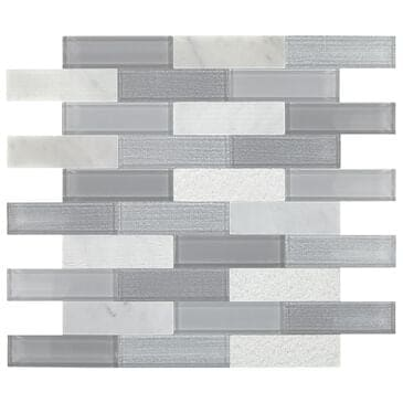 "Dal-Tile SimplyStick Stormy Mist12""x12"" Brick Joint Mosaic Sheet, , large"
