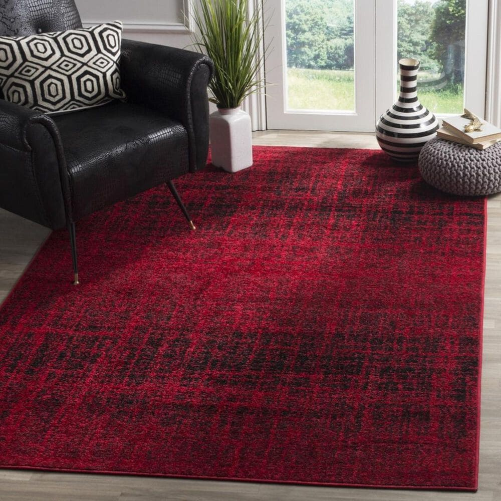 Safavieh Adirondack ADR116F 3' x 5' Red and Black Area Rug, , large