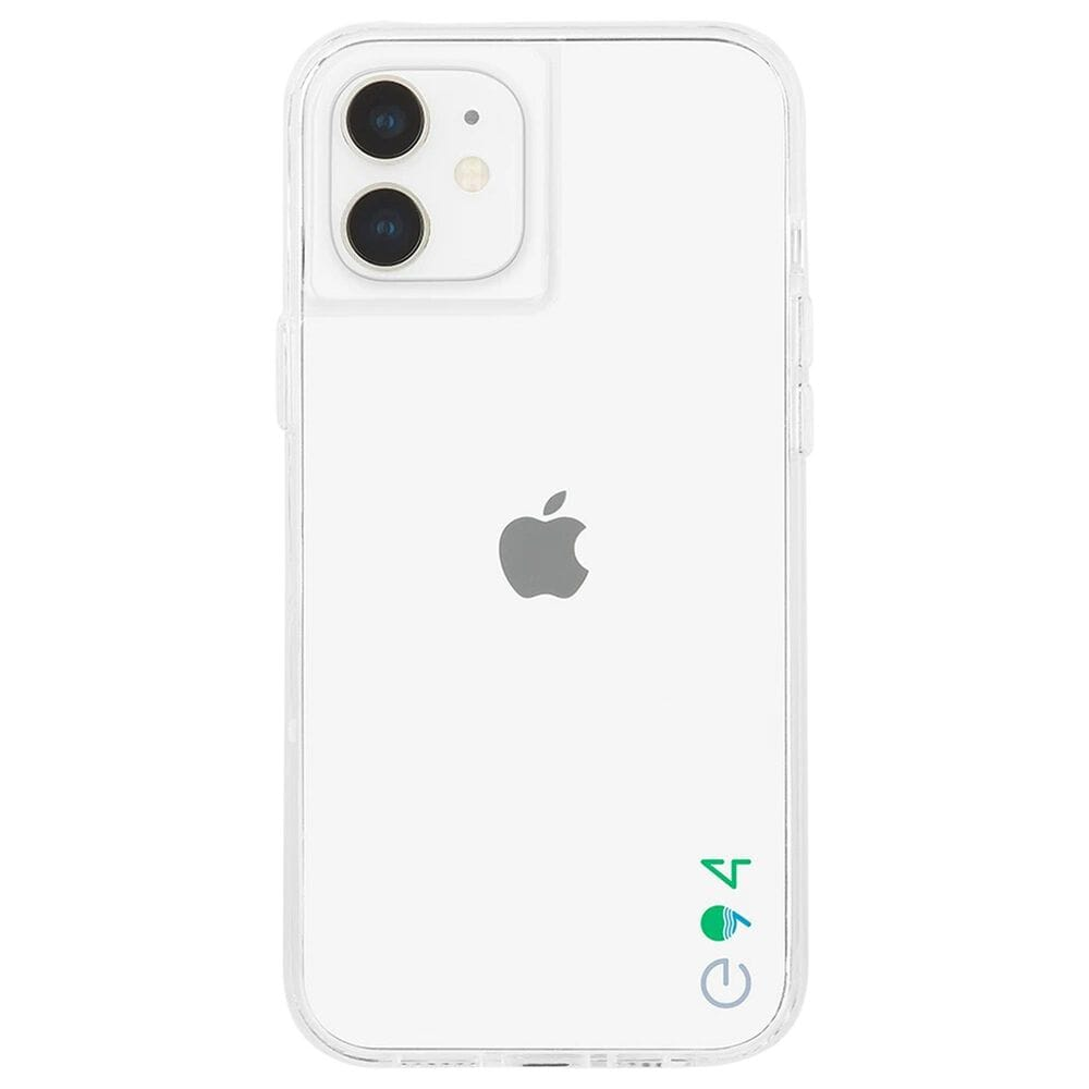 Case-Mate Eco94 Ecoinclear Case With Micropel For Apple iPhone 12 Mini in Clear, , large