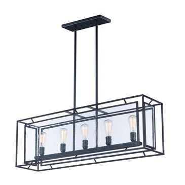Maxim Lighting Era 5-Light Pendant with Bulb in Black, , large