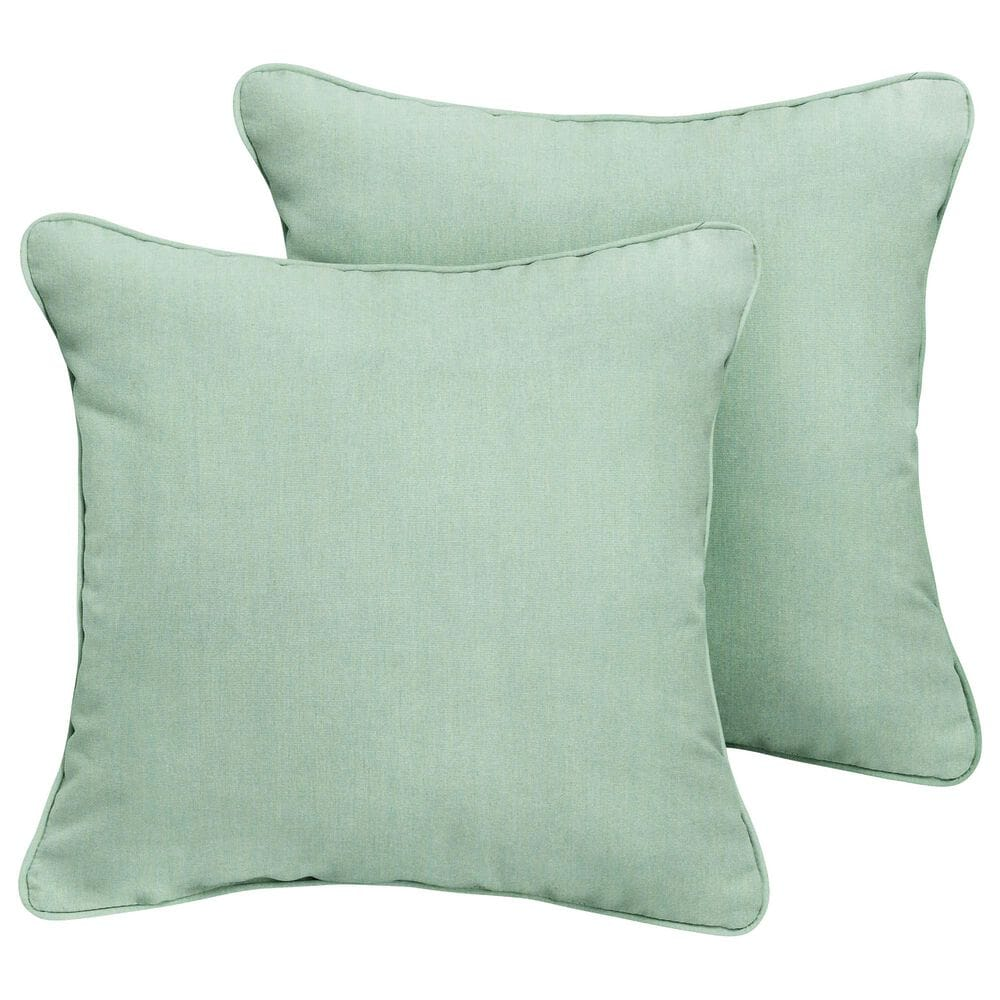 """Sorra Home Sunbrella 20"""" Pillow in Canvas Spa (Set of 2), , large"""