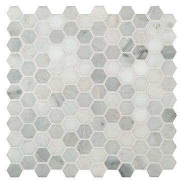 "MS International Arabescato Carrara 12"" x 12"" Natural Stone Mosaic Tile, , large"