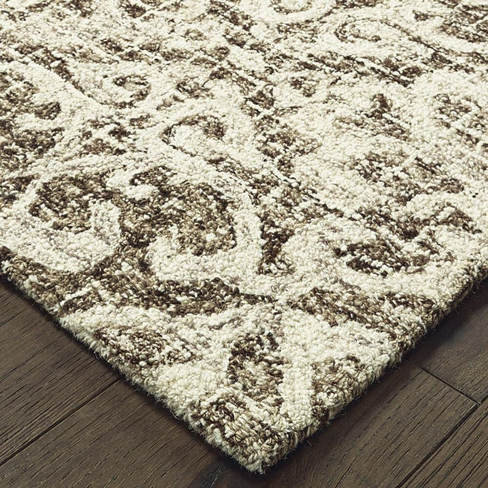 """Oriental Weavers Tallavera 55607 2'6"""" x 8' Brown and Ivory Runner, , large"""