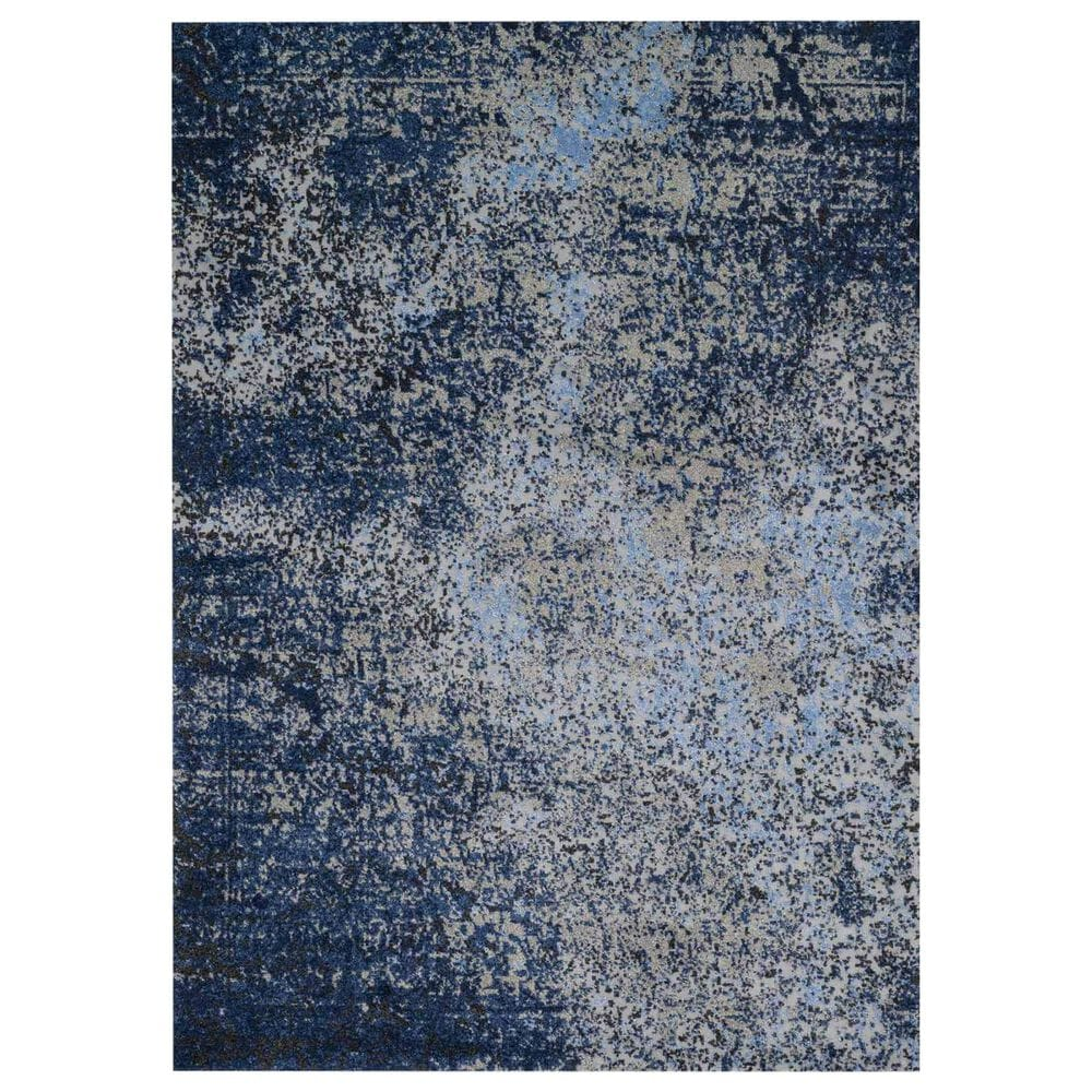 """Loloi Viera VR-07 8""""11"""" x 12""""5"""" Grey and Navy Area Rug, , large"""
