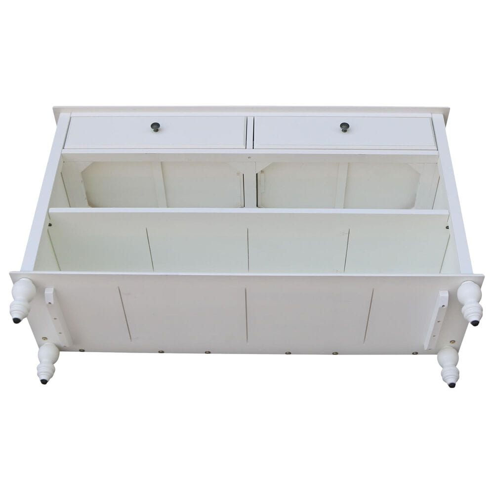 International Concepts Storage Console Table in Beach White, , large