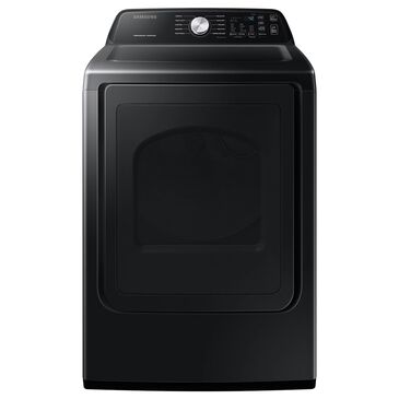 Samsung 7.4 Cu. Ft. Electric Dryer with Sensor Dry and Smart Care in Black Stainless Steel , , large