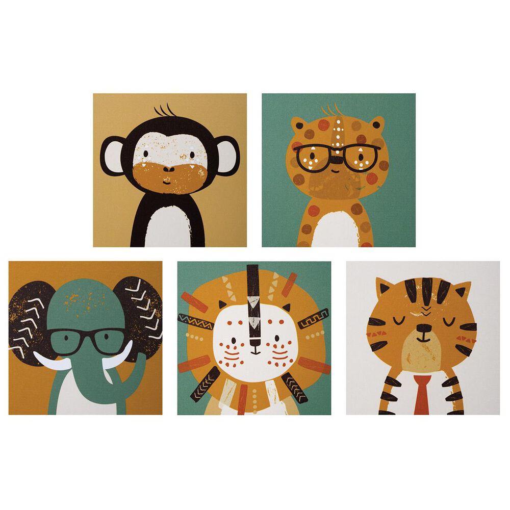 Trend Labs Safari 5-Piece Canvas Wall Art, , large