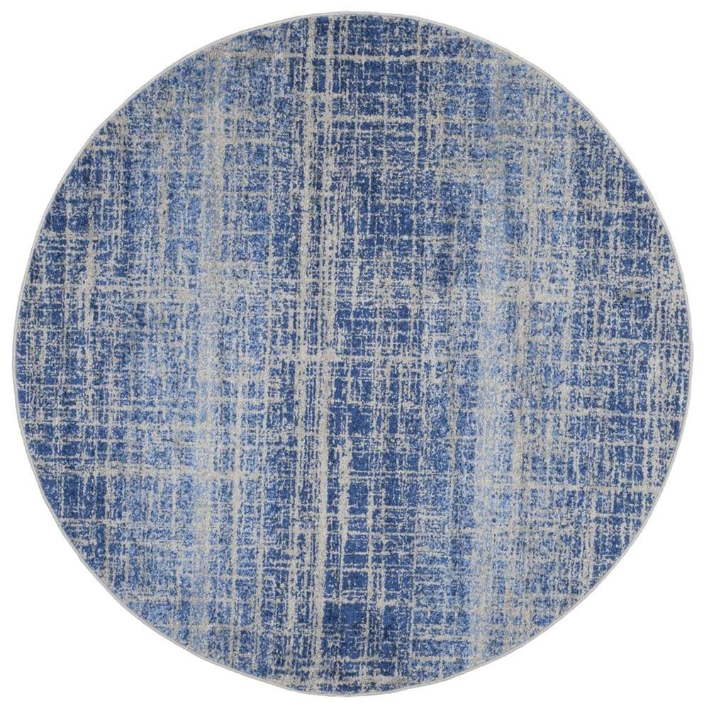 Safavieh Adirondack ADR116D 4' Round Blue and Silver Area Rug, , large