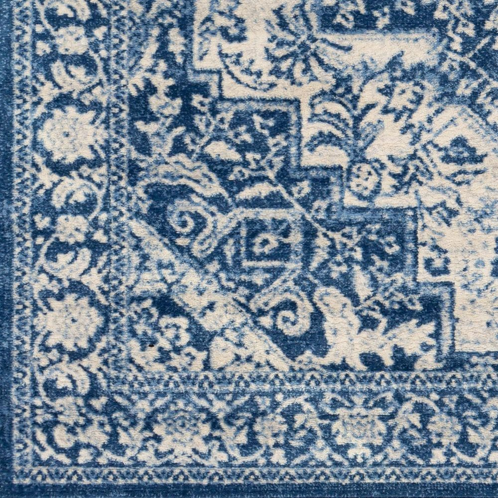"Surya Monaco MOC-2316 6'9"" x 9'9"" Bright Blue, Navy and Cream Area Rug, , large"