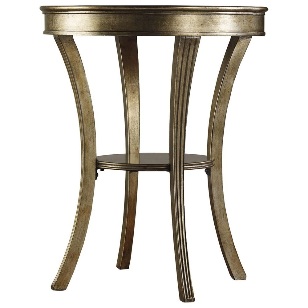 Hooker Furniture Sanctuary Round Mirrored Accent Table in Visage, , large