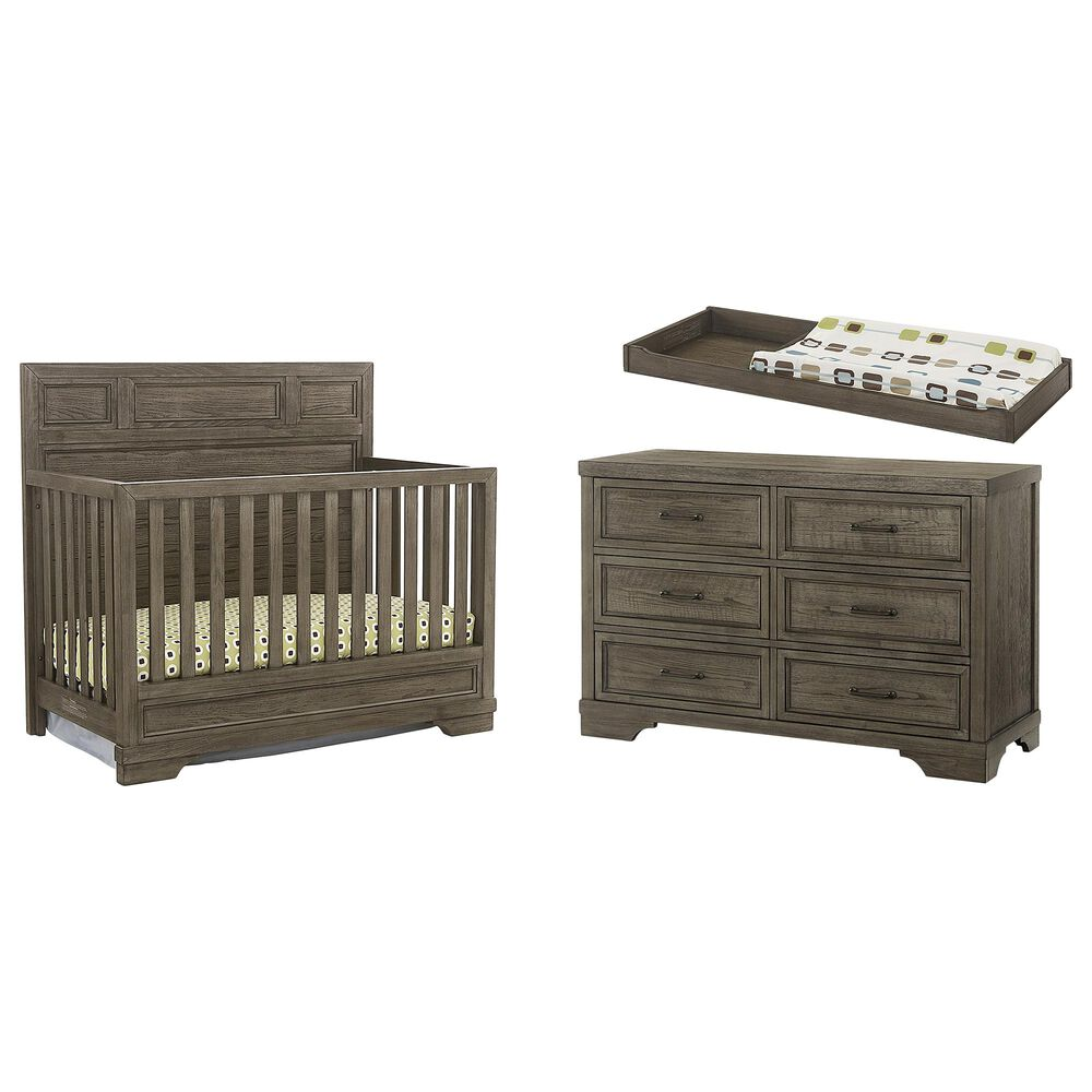 Eastern Shore Foundry 3 Piece Nursery Set in Brushed Pewter, , large