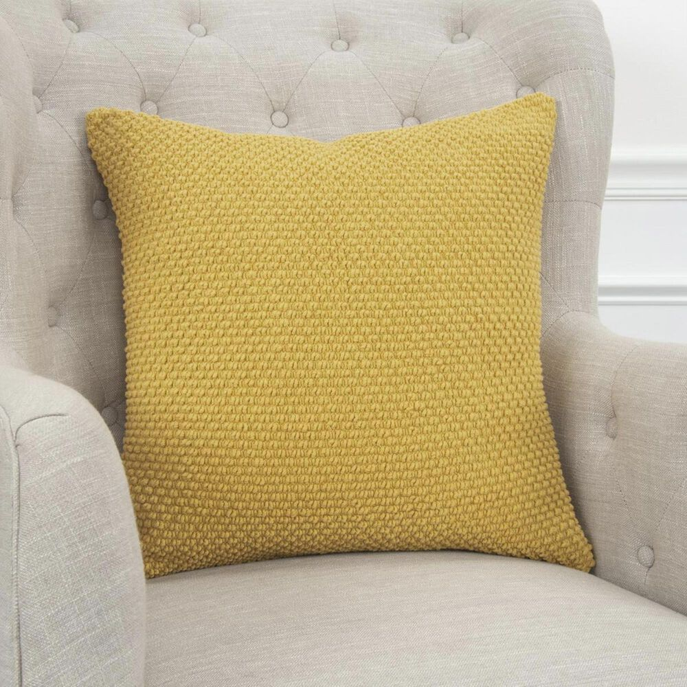 """Rizzy Home 20"""" x 20"""" Pillow Cover in Yellow, , large"""